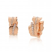 Jardin Leaves Rose Earrings