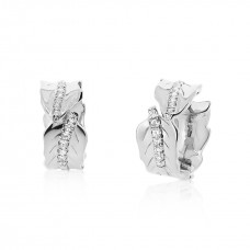 Jardin Leaves Silver Earrings