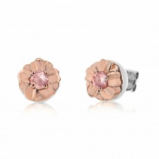 Jardin Two Tone Magnolia Silver/Rose Earrings