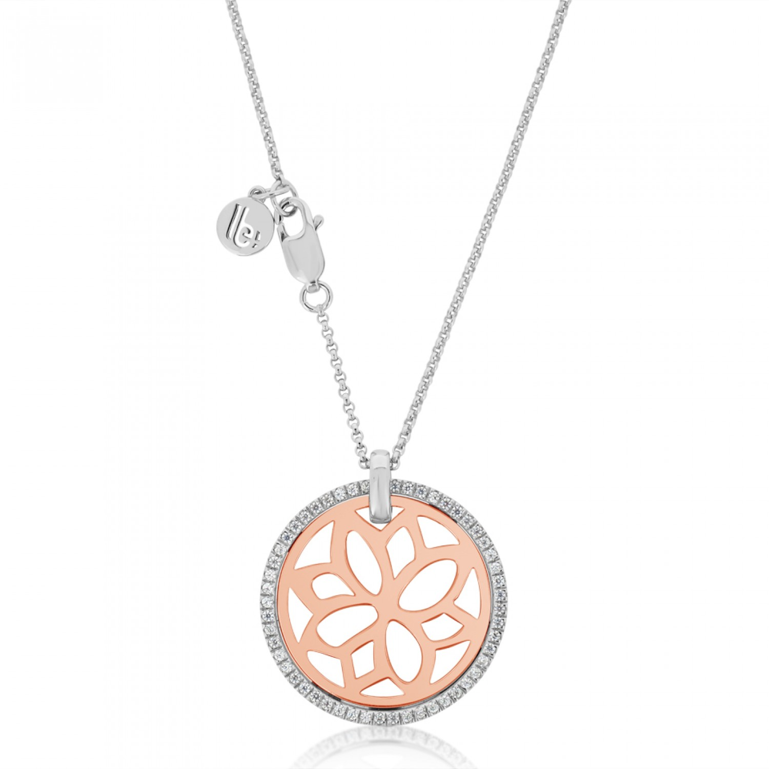 Jardin Magnolia Motif Rose Necklace