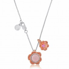 Jardin Fine Magnolia Rose Necklace