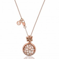 Jardin Hidden Magnolia Rose Necklace