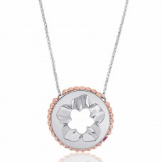 Jardin Magnolia Coin Silver/Rose Necklace