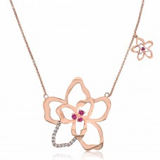 Jardin Magnolia Petal Rose Necklace