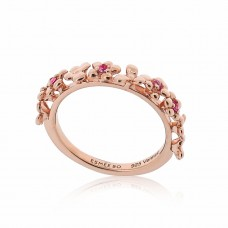Jardin Magnolia Stacking Rose Ring