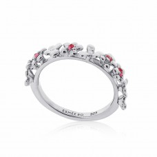 Jardin Magnolia Stacking Silver Ring