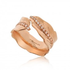Jardin Leaves Rose Ring