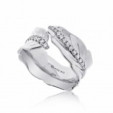 Jardin Leaves Silver Ring