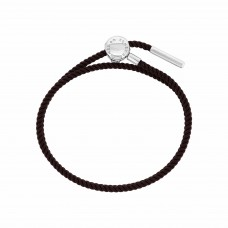 Esmée Bo. Silver Clasp Brown Faith Cord