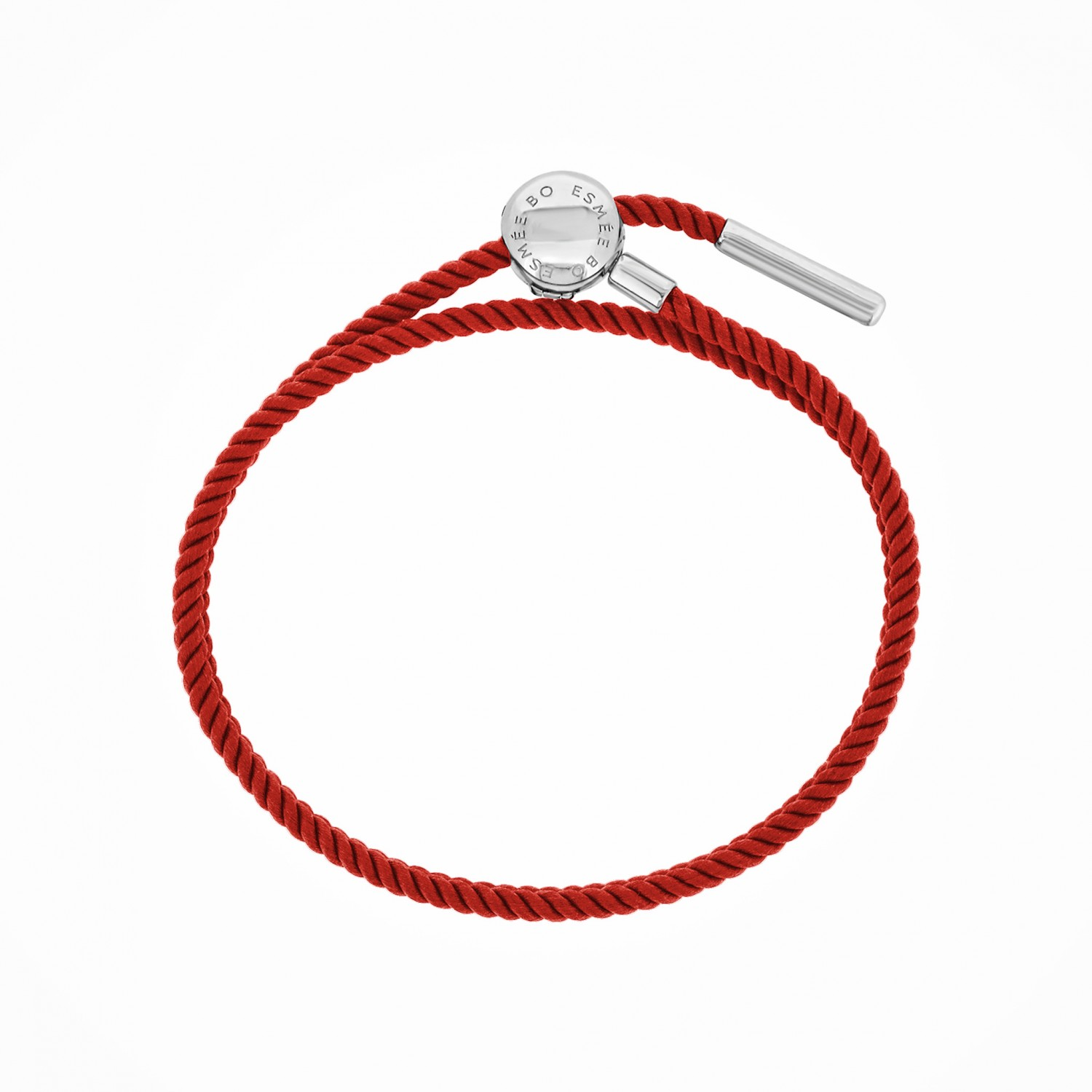 Esmée Bo. Silver Clasp Red Faith Cord