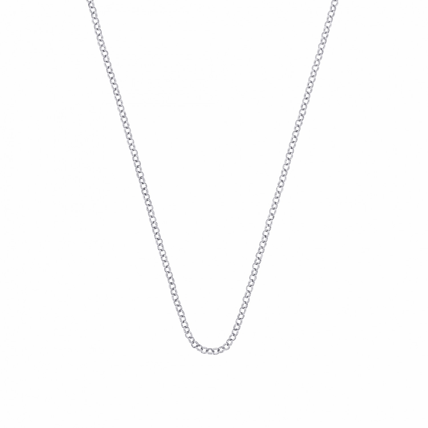 Esmée Bo. Pure Rolo Silver Long Necklace