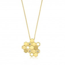 Ornate Hive Gold Necklace
