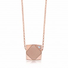 Ornate Square Rhombus Rose Necklace