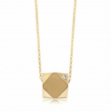 Ornate Square Rhombus Gold Necklace
