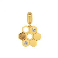 Ornate Hive Gold Love Charm