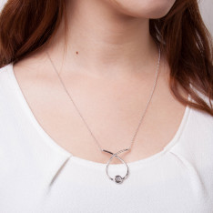 Twine Coil Silver Necklace