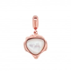 Serene Sea Shell Rose Love Charm