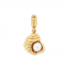 Serene Spiral Sea Shell Gold Love Charm