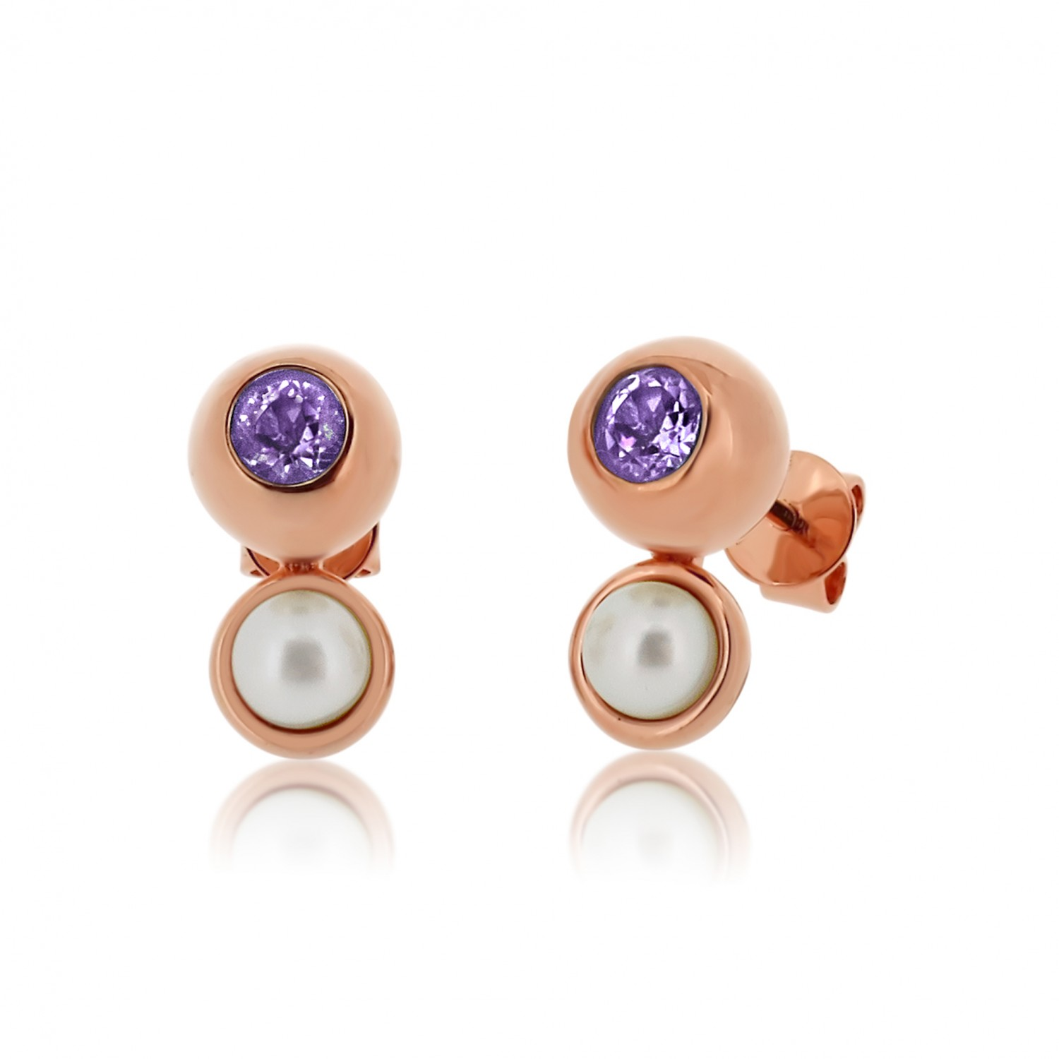 Serene Eye Of The Ocean Amethyst Earrings