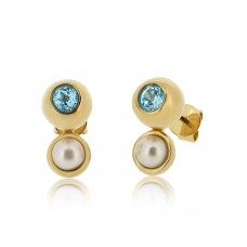 Serene Eye Of The Ocean Sky Blue Topaz Earrings
