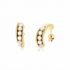 Serene Twisted Barnacle Gold Earrings