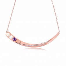 Serene Stingray Tail Amethyst Necklace