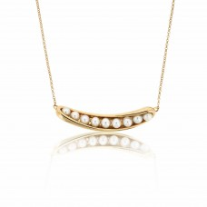 Serene Twisted Barnacle Gold Necklace