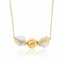 Serene Ocean Waves Gold Necklace