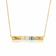 Serene Seashore Sky Blue Topaz Necklace
