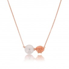 Serene Sea Shell Rose Necklace