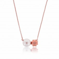 Serene Sea Urchin Rose Necklace