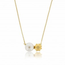 Serene Sea Urchin Gold Necklace