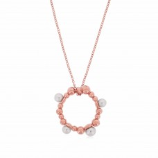 Serene Bubble Coral Rose Necklace