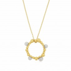Serene Bubble Coral Gold Necklace