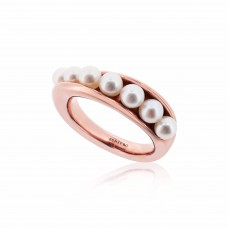 Serene Twisted Barnacle Rose Ring