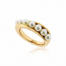 Serene Twisted Barnacle Gold Ring