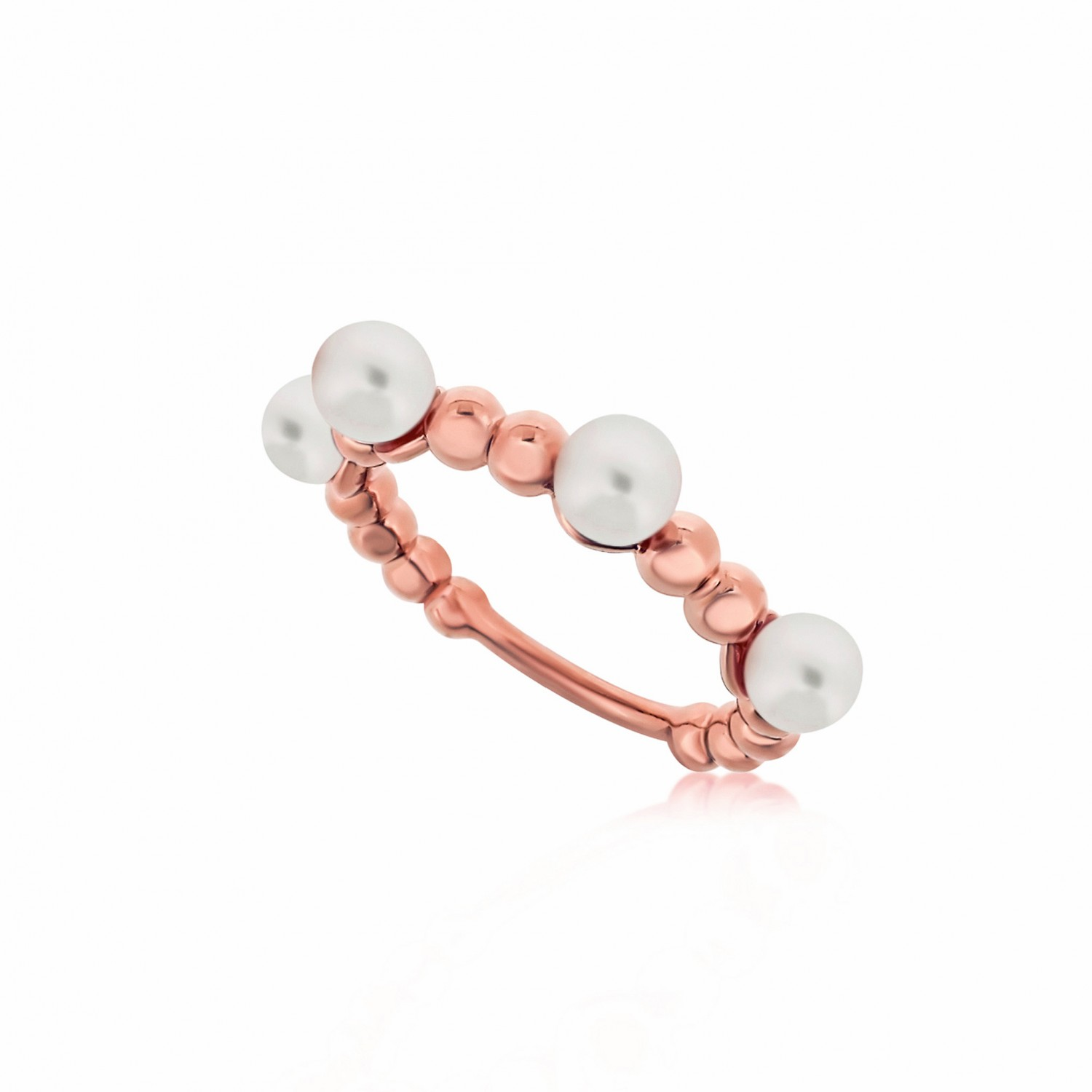 Serene Bubble Coral Rose Ring