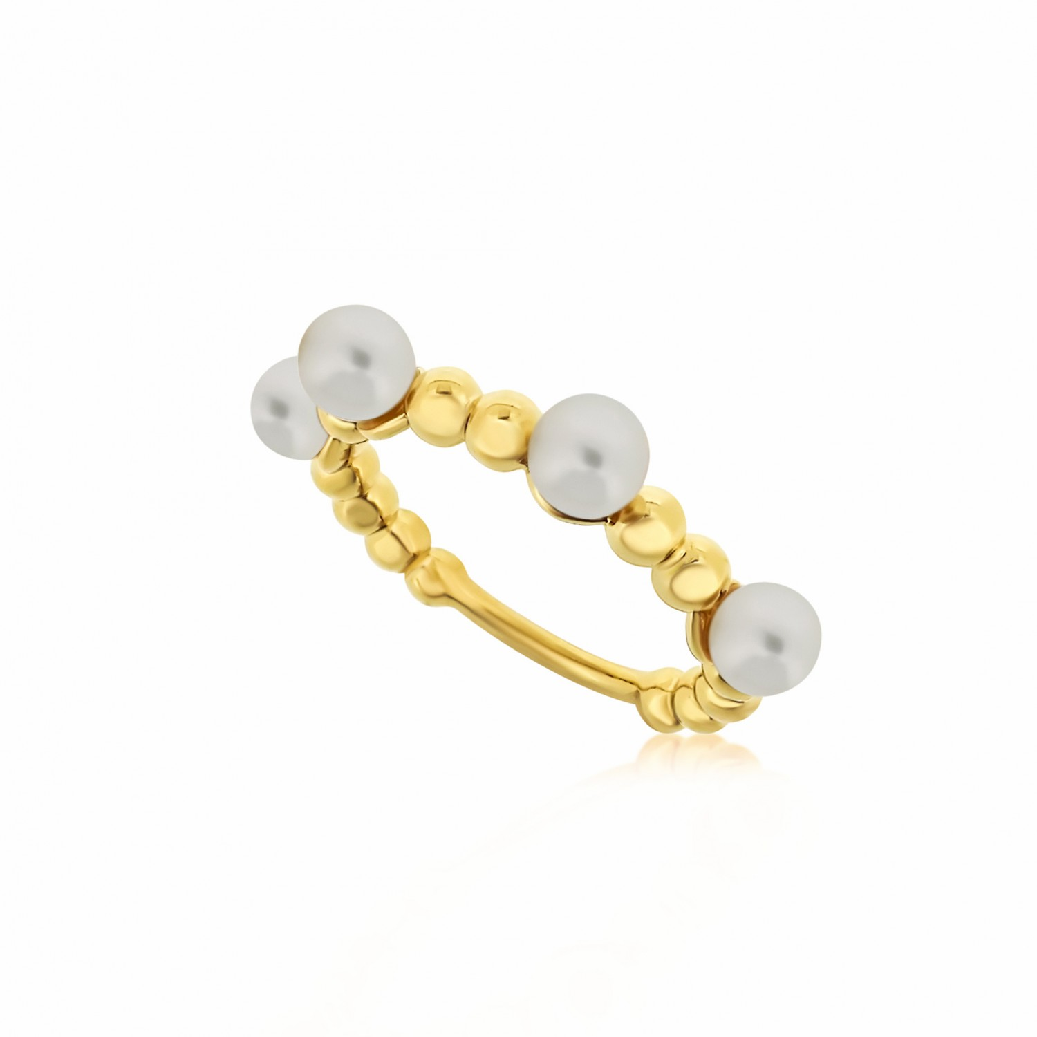 Serene Bubble Coral Gold Ring