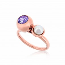Serene Eye Of The Ocean Amethyst Ring