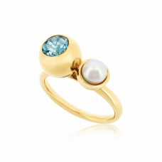 Serene Eye Of The Ocean Sky Blue Topaz Ring