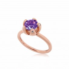 Serene Royal Starfish Amethyst Ring