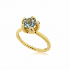 Serene Royal Starfish Sky Blue Topaz Ring