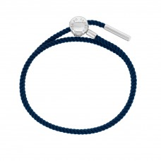 Esmée Bo. Silver Clasp Dark Blue Faith Cord