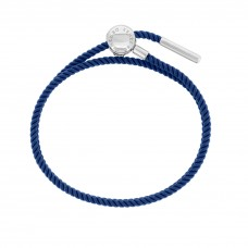 Esmée Bo. Silver Clasp Light Blue Faith Cord