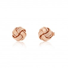 Twine Knot Pure Rose Earrings