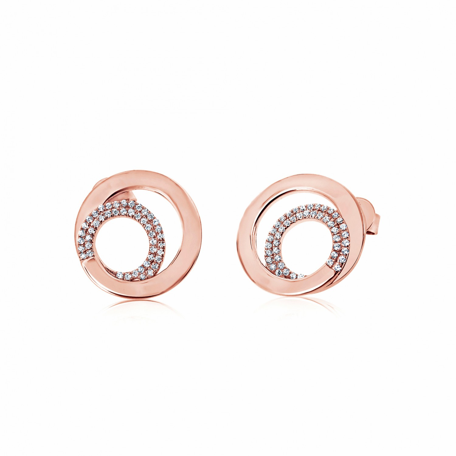 Twine Encircle Rose Earrings
