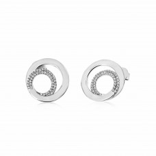 Twine Encircle Silver Earrings