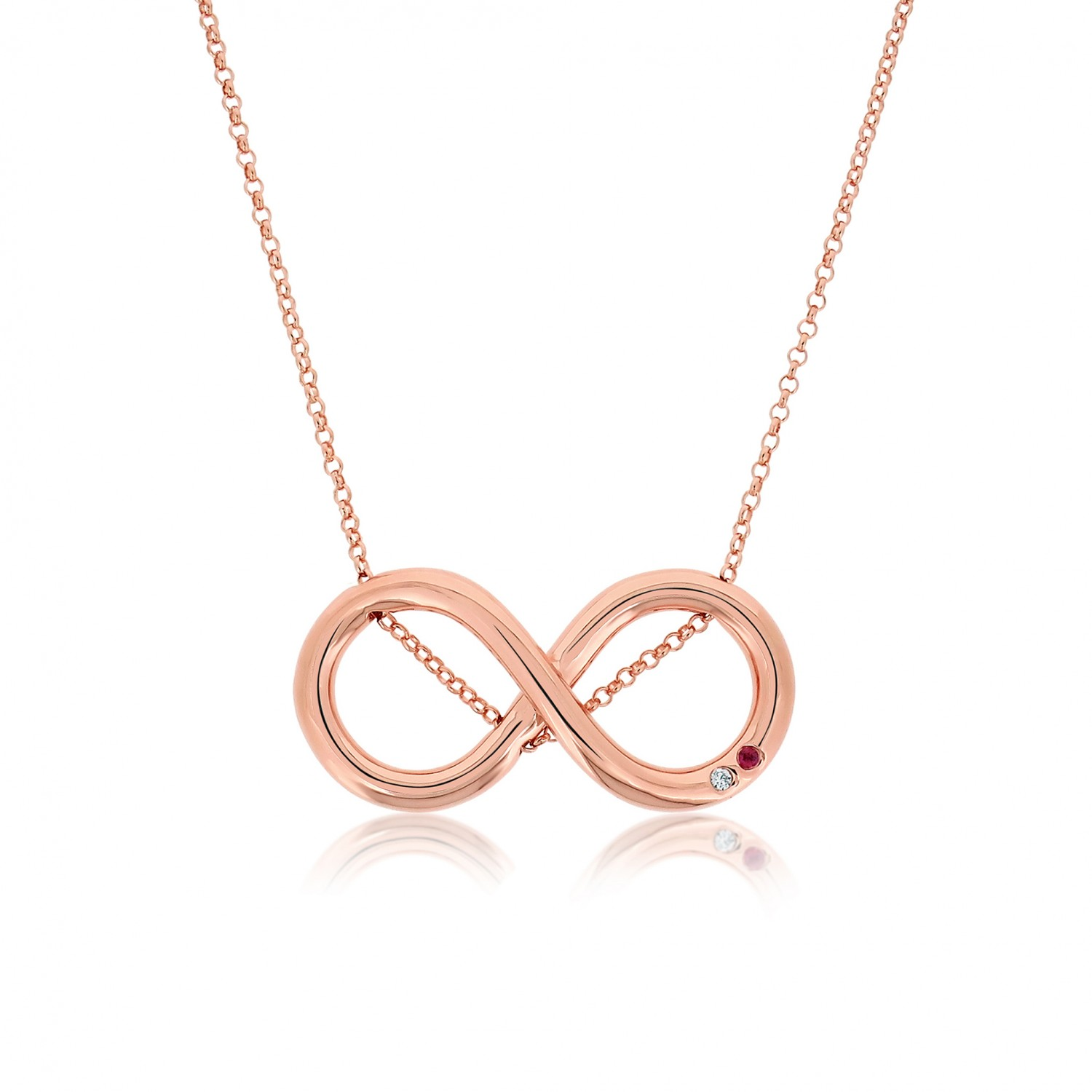 Twine Infinity Rose Necklace