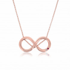 Twine Infinity Rose Gold Vermeil Pink Sapphire Necklace