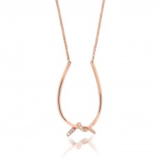 Twine Interweave Rose Necklace